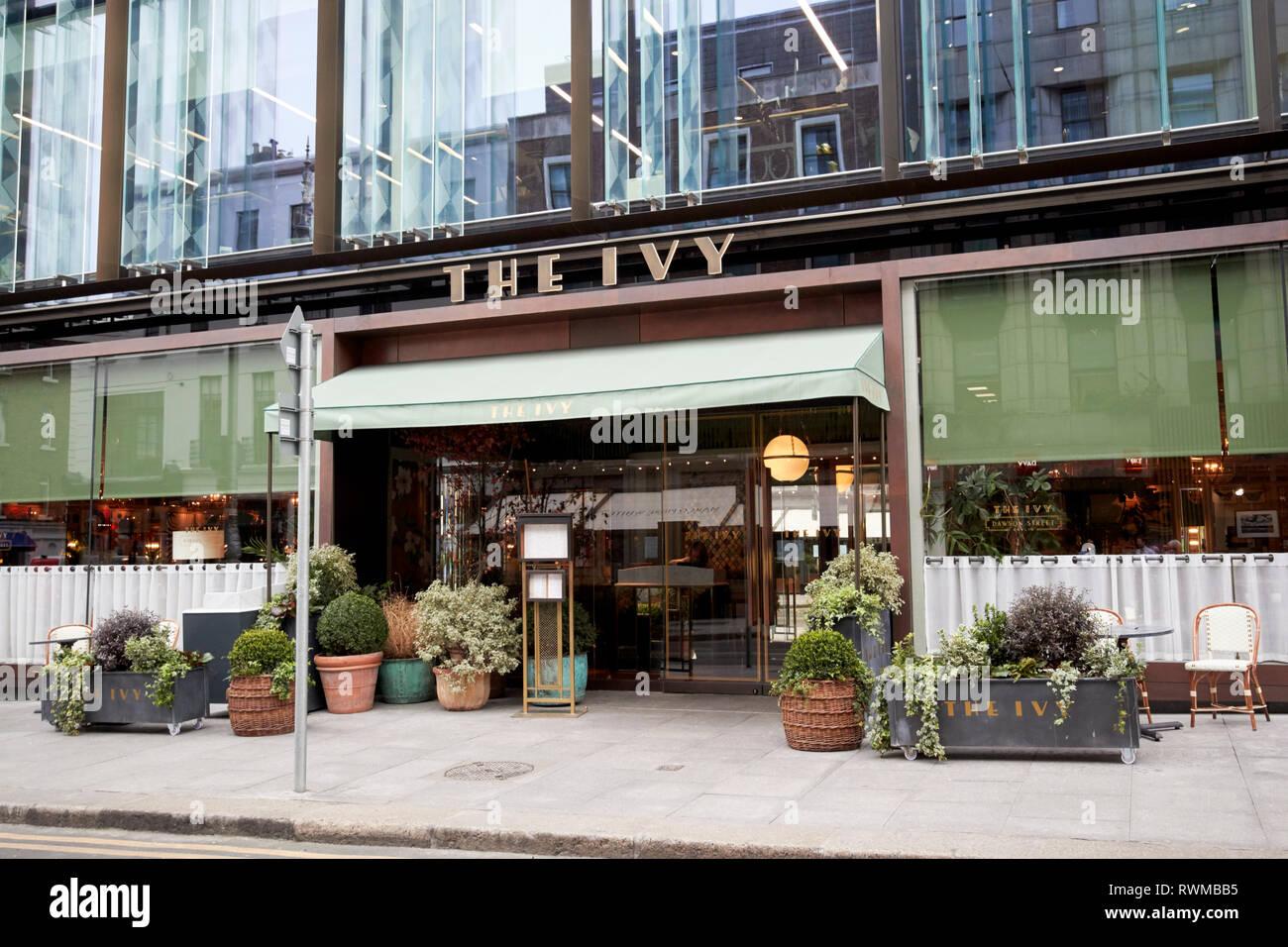 The Ivy restaurant dawson street Dublin republic of Ireland - Stock Image