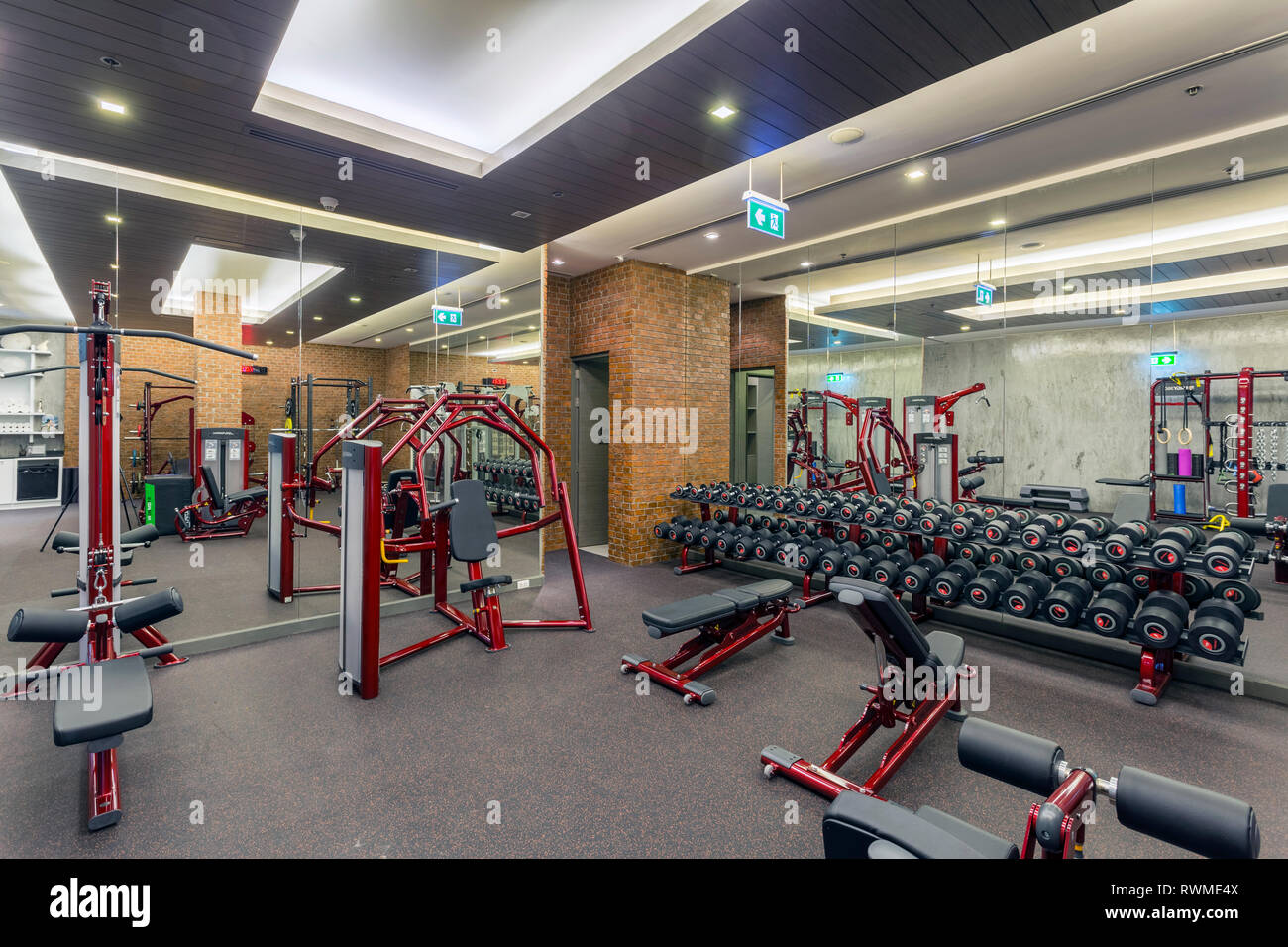 Peachy Fitness Centre And Health Club In The Luxury Resort Hotel Interior Design Ideas Skatsoteloinfo