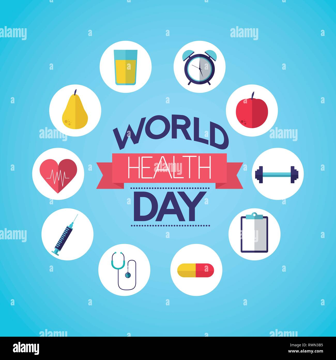 world health day - Stock Image