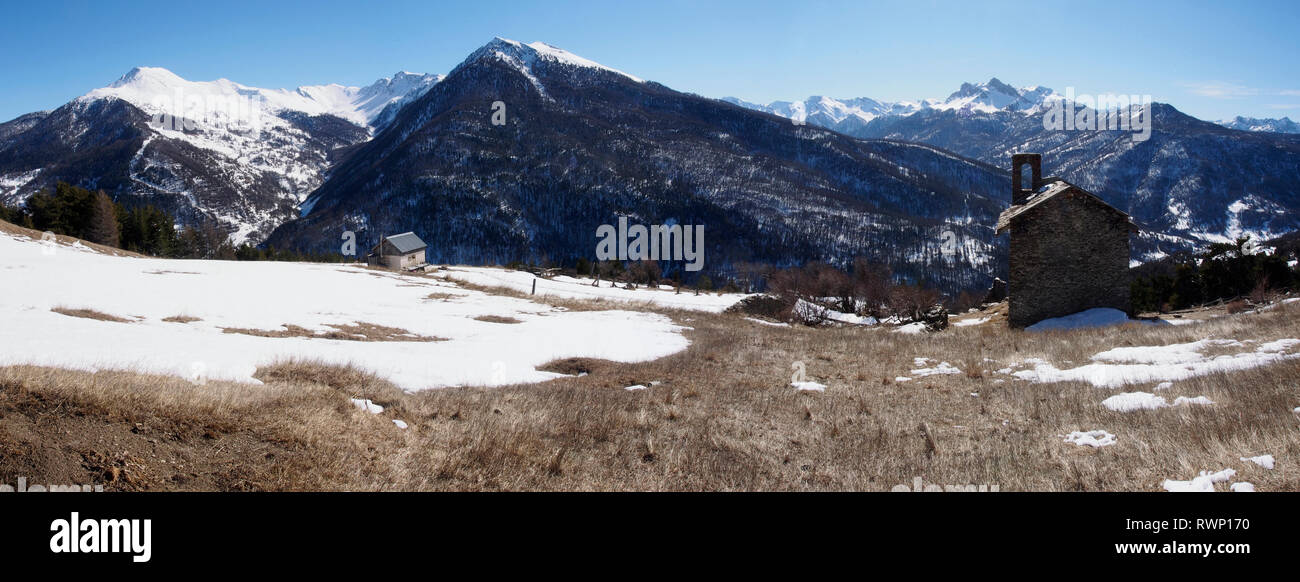 Chalvet des Borels, Aiguilles, Parc regional du Queyras, French Alps - Stock Image