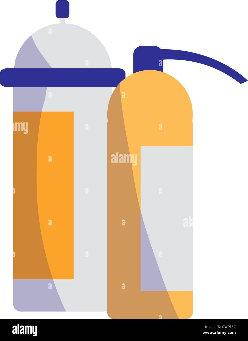 extinguisher fire equipment icon vector illustration design - Stock Image