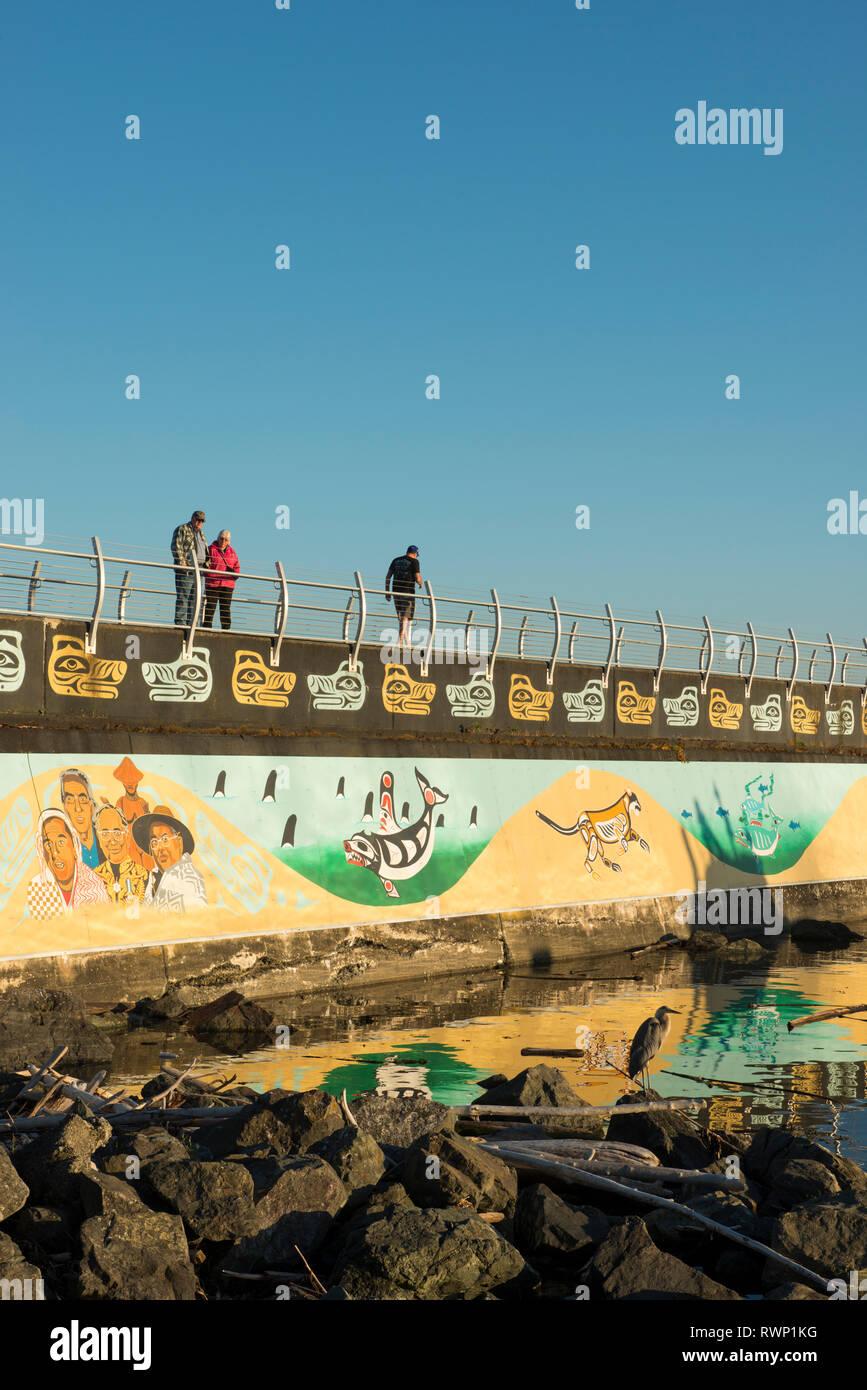 Na'Tsa'Maht, The Unity Wall Mural, Ogden Point Breakwater