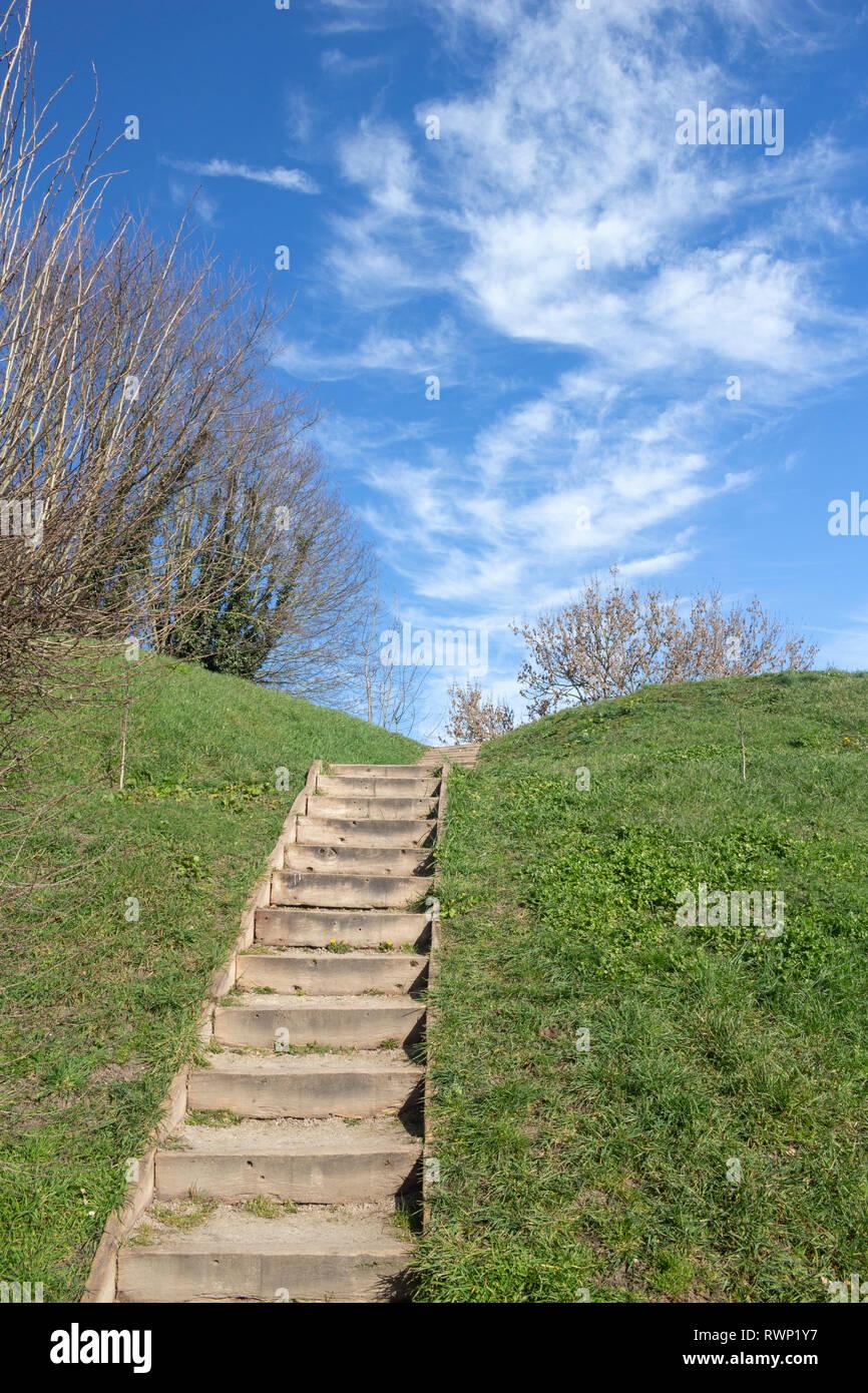 Steps in Bergues, Nord Pas de Calais, France - Stock Image