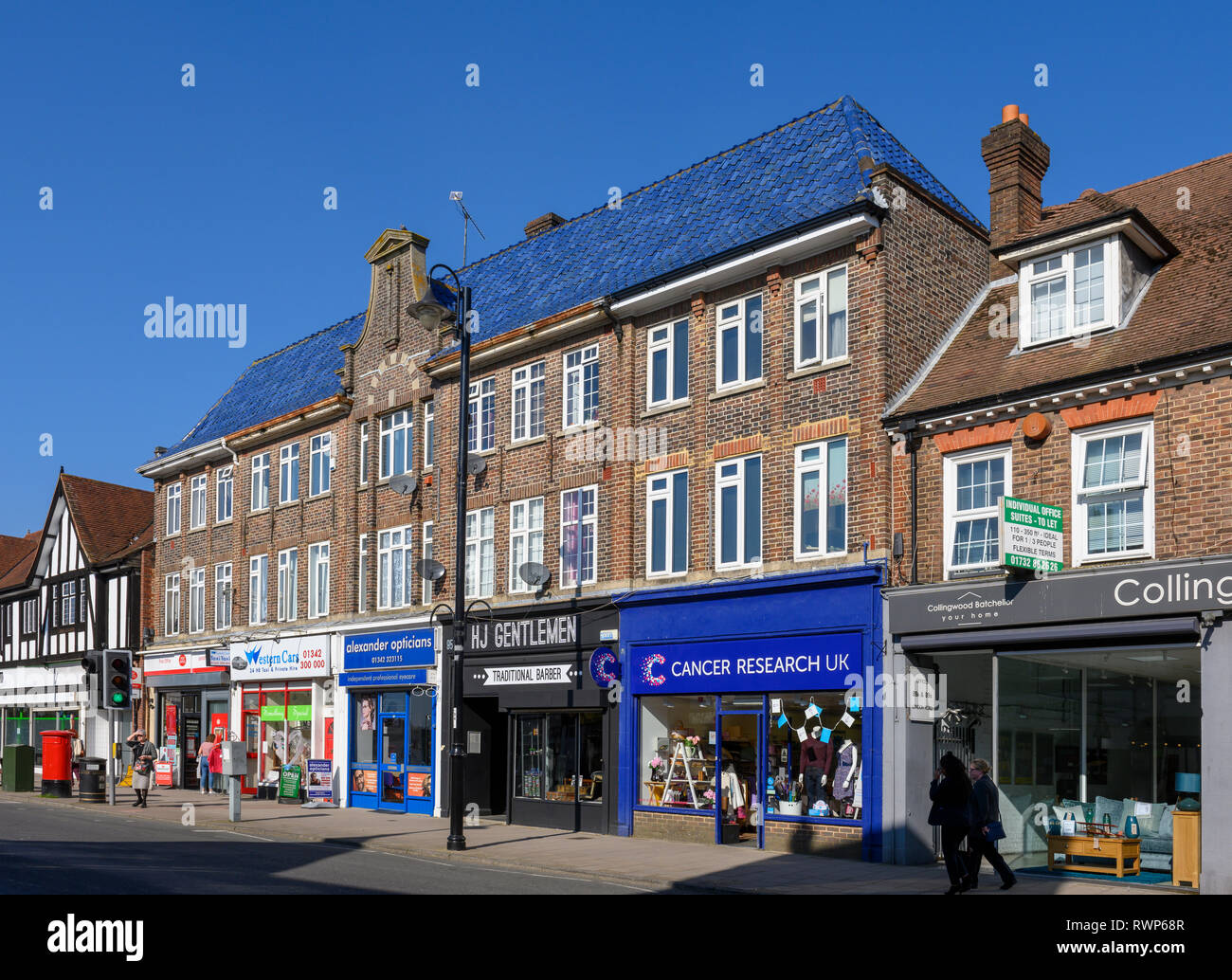 Retail Shops On London Road East Grinstead West Sussex