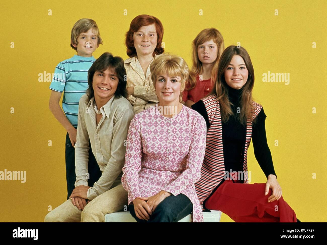 BRIAN FORSTER, DAVID CASSIDY, DANNY BONADUCE, SHIRLEY JONES, SUZANNE CROUGH,SUSAN DEY, THE PARTRIDGE FAMILY, 1970 - Stock Image