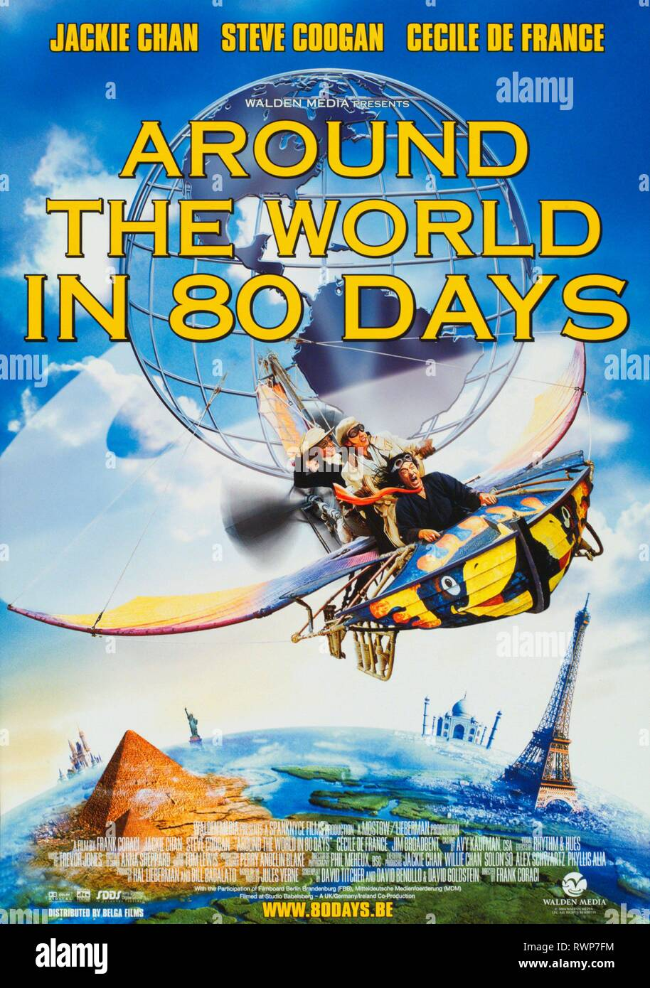 Film Poster Around The World In  Stock Image