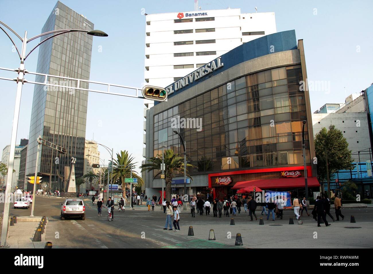 Modern architecture in the centre of Mexico city. - Stock Image