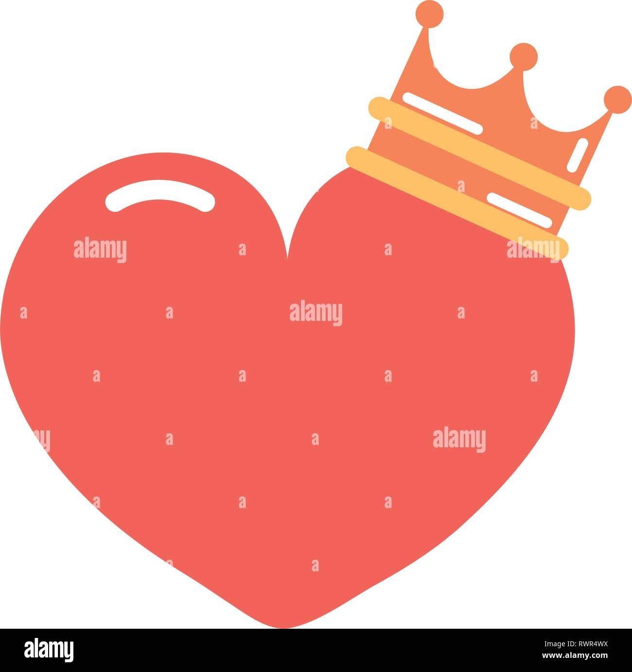 Heart Crown Cartoon Girl Power Vector Illustration Stock Vector Image Art Alamy Brown crown illustration, cartoon queen crown transparent background png clipart. alamy