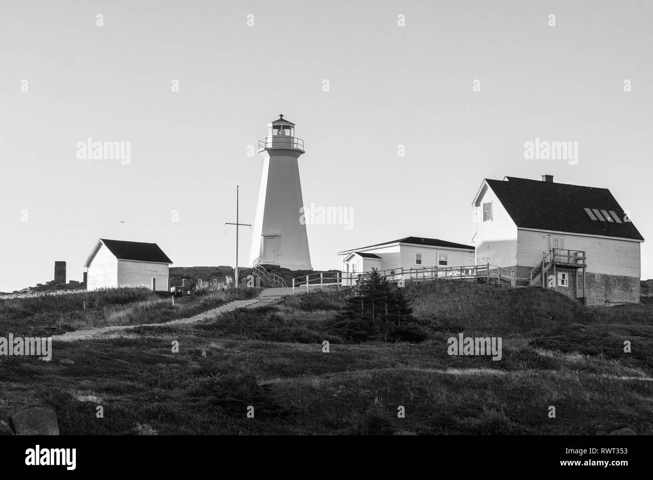 Sunrise at Cape Spear, the eastern most point in North America. - Stock Image