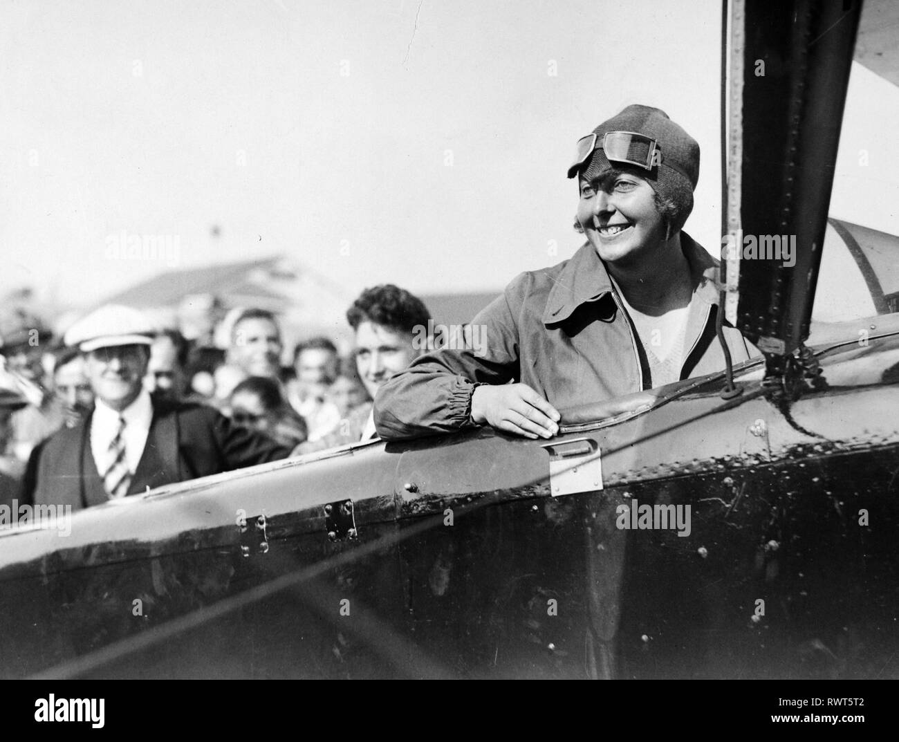 THEA RASCHE (1899-1971) Germany's first aerobatics pilot in 1930 - Stock Image