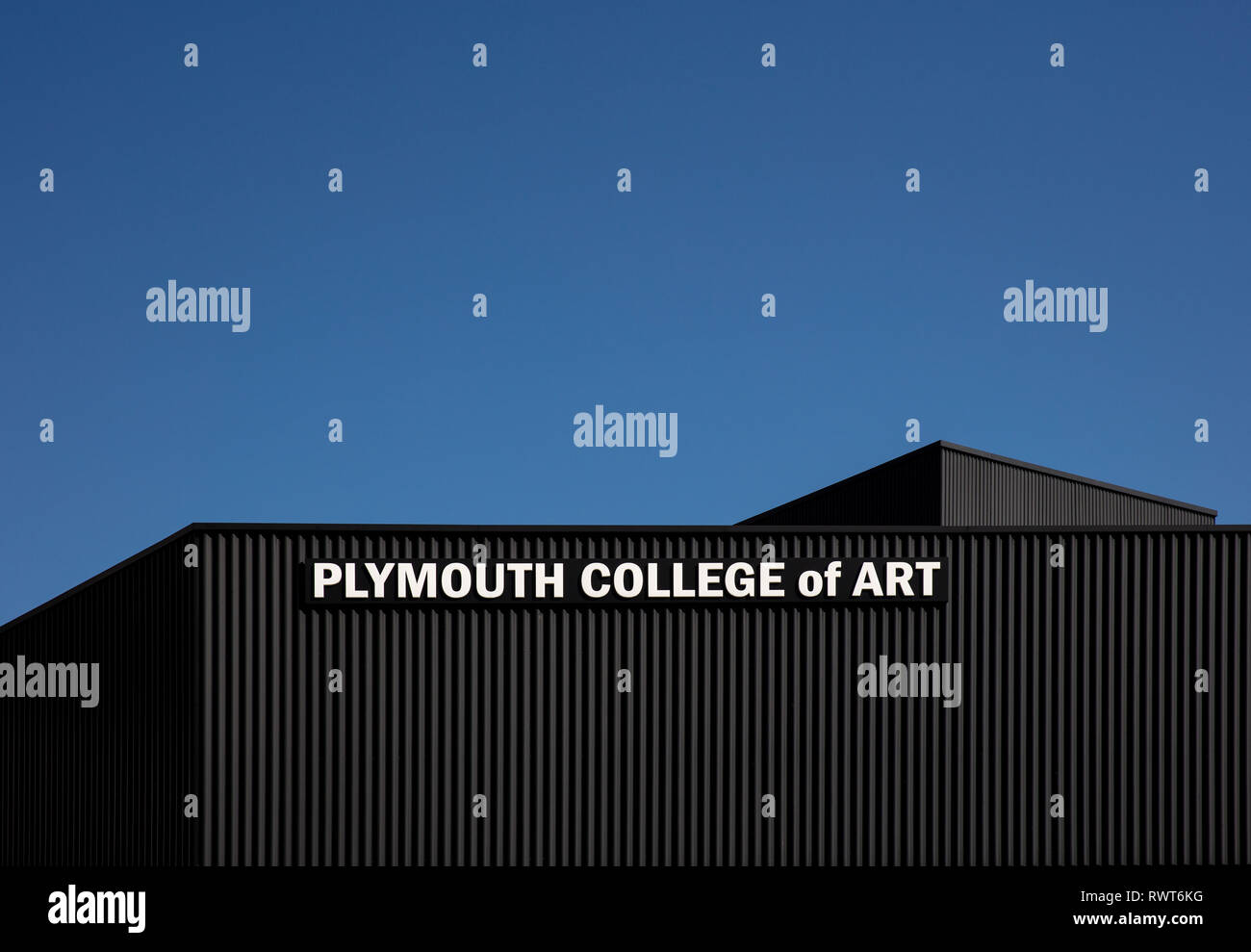 Plymouth College of Art - formerly called Plymouth College of Art and Design - is a specialist arts college located in Plymouth, Devon - Stock Image