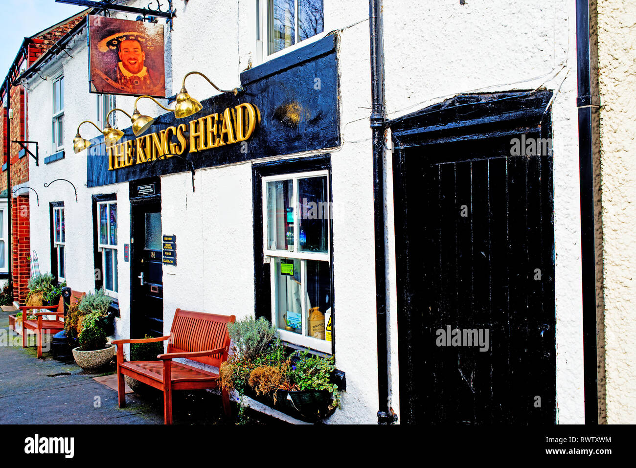 Hutton Rudby, The Kings Head,   North Yorkshire, England - Stock Image