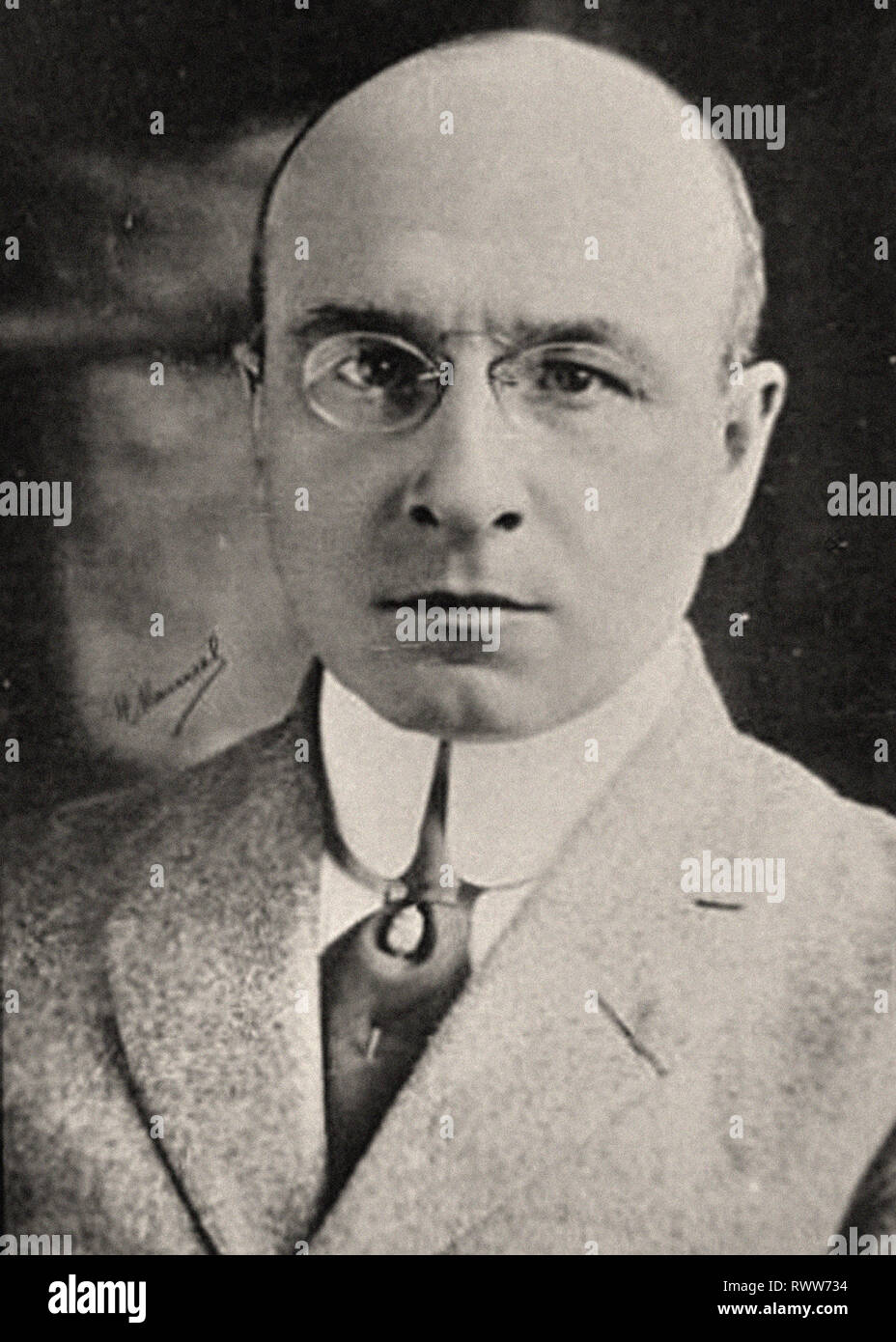 Photographic portrait of Carell, Alexis - Stock Image