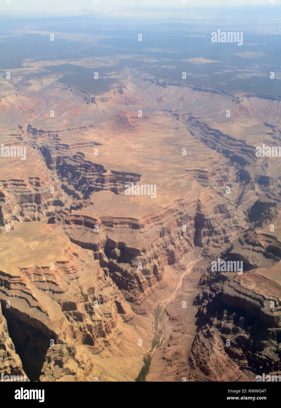 Helicopter view over the Grand Canyon - Stock Image
