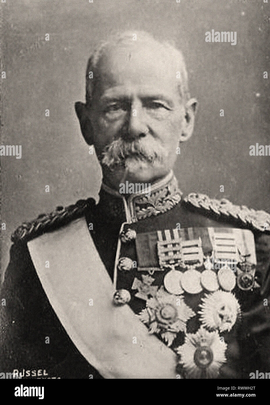 Photographic portrait of Lord Roberts - Stock Image
