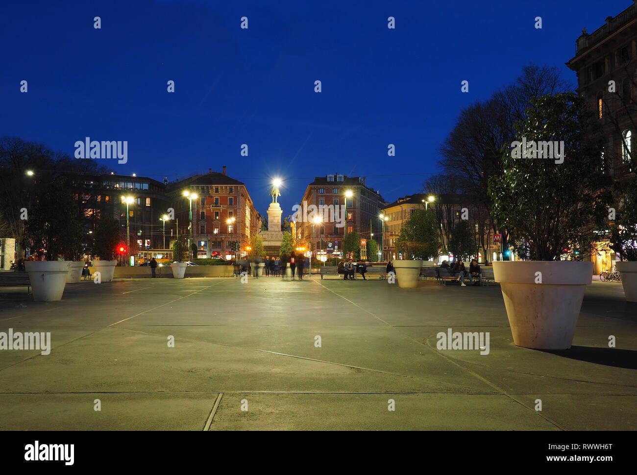 Milano, Cairoli square - Stock Image