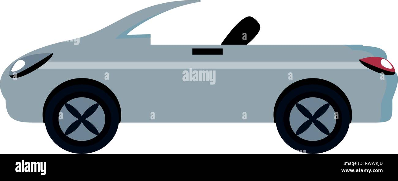 car convertible isolated icon vector illustration design - Stock Image