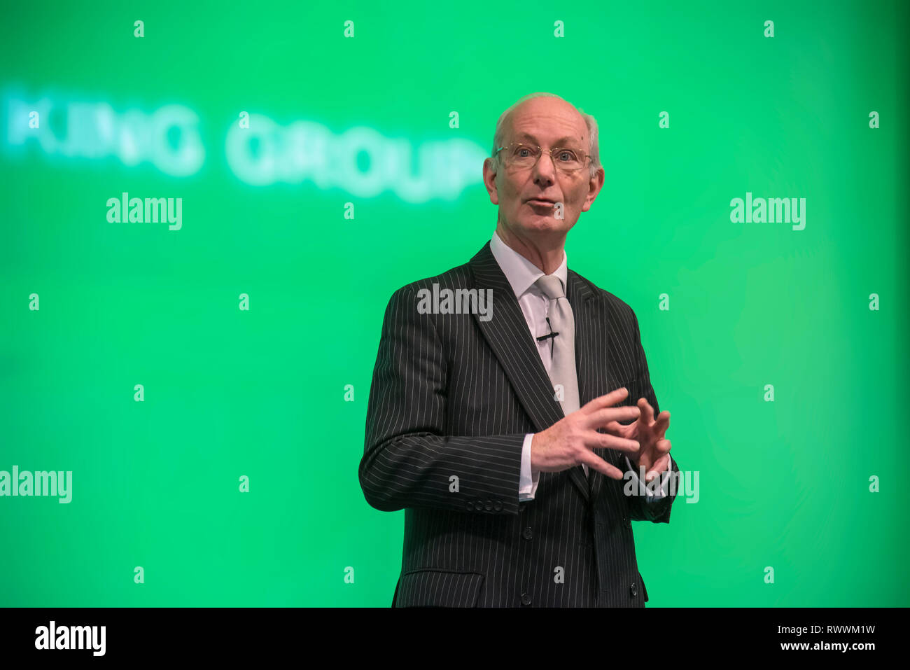 Lord Blackwell of Chairman of Lloyds Banking Group - Stock Image