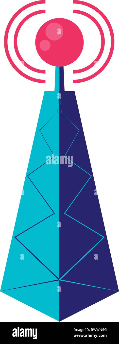 antenna signal repeater tower vector illustration design - Stock Image