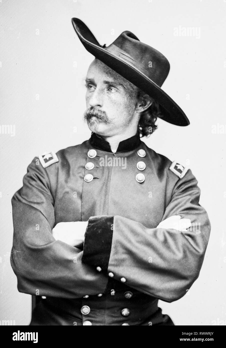 Historic Photos 1865 Photo Major General George Armstrong Custer