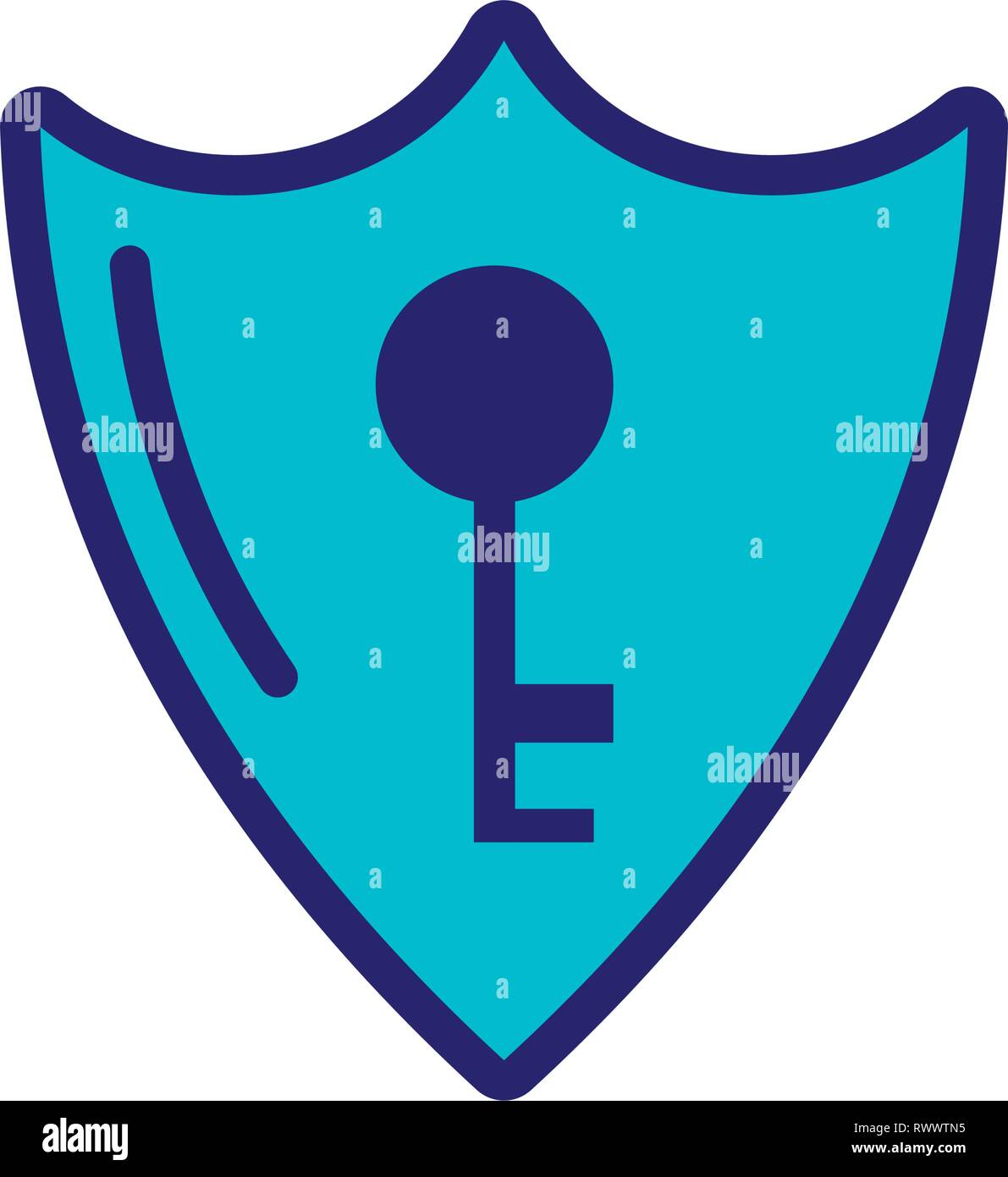 shield secure isolated icon vector illustration design - Stock Vector