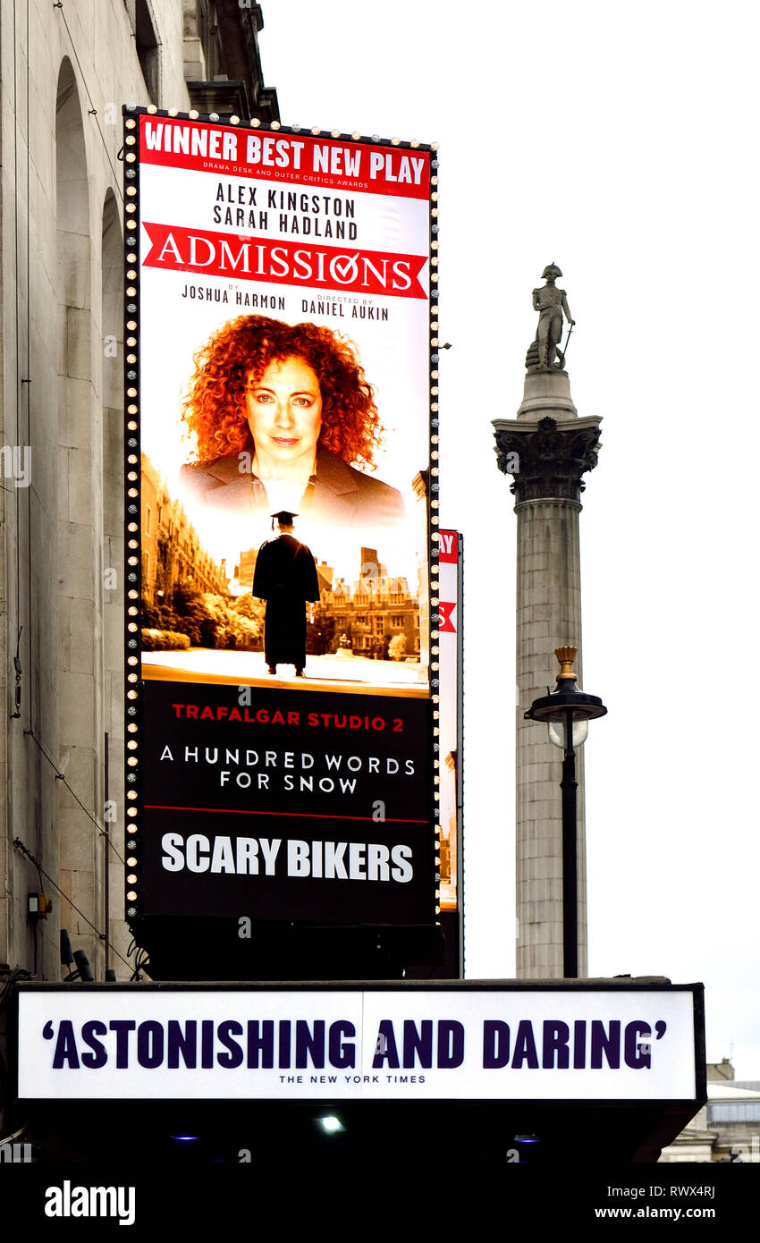 London, England, UK. 'Admissions' (play by Joshua Harmon) at the Trafalgar Studios in Whitehall, March 2019 - Stock Image