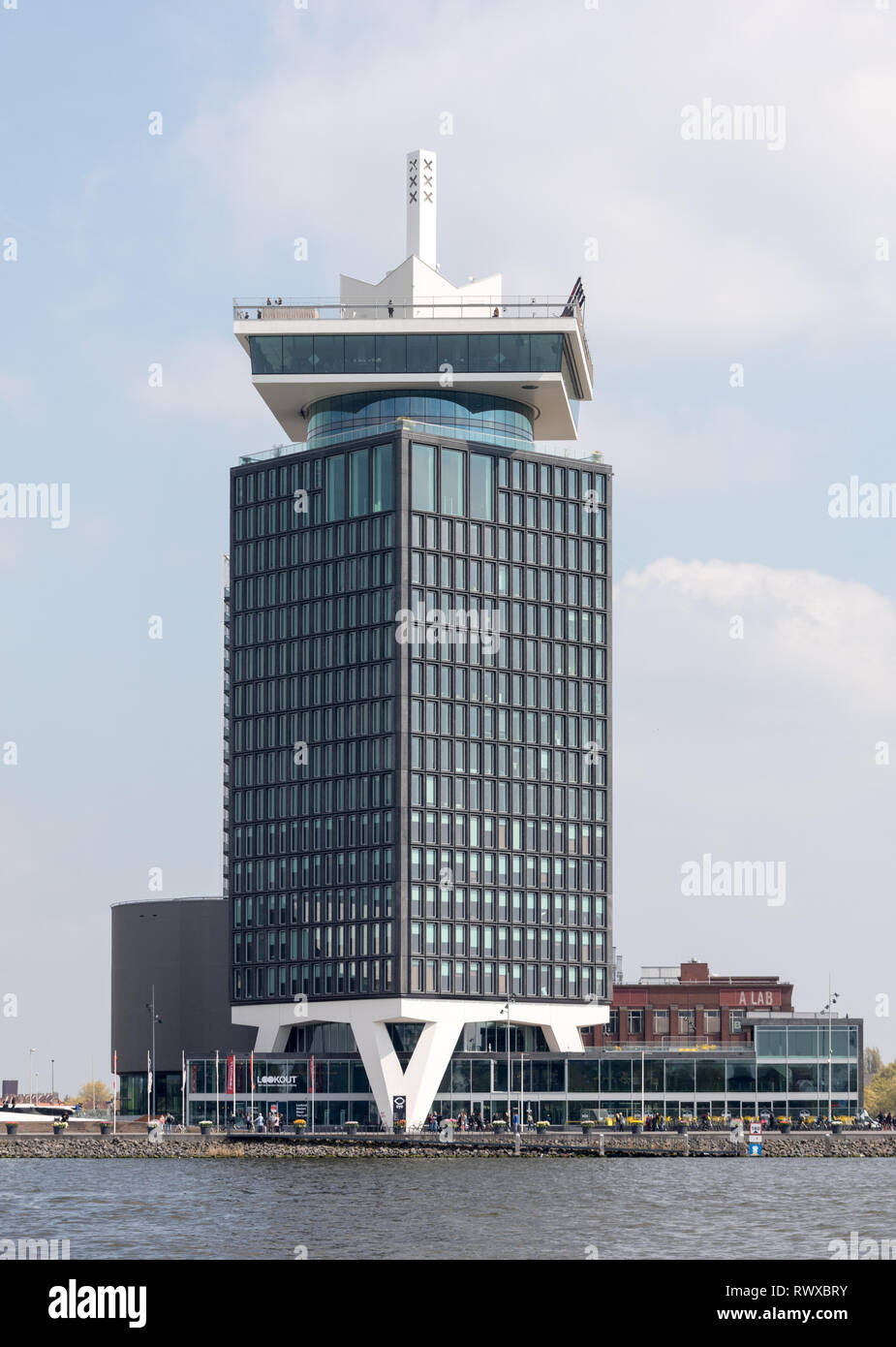 AMSTERDAM, NETHERLANDS - APRIL 20, 2017: EYE Film Institute Netherlands is located in Amsterdam in the Netherlands. It includes a cinematography museu - Stock Image