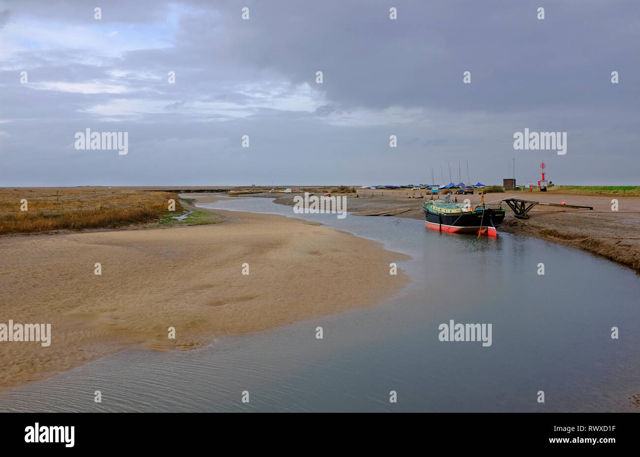 blakeney harbour, north norfolk, england - Stock Image