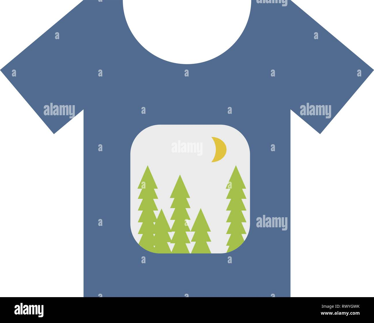 Simple T shirt design for print on demand concept in vector