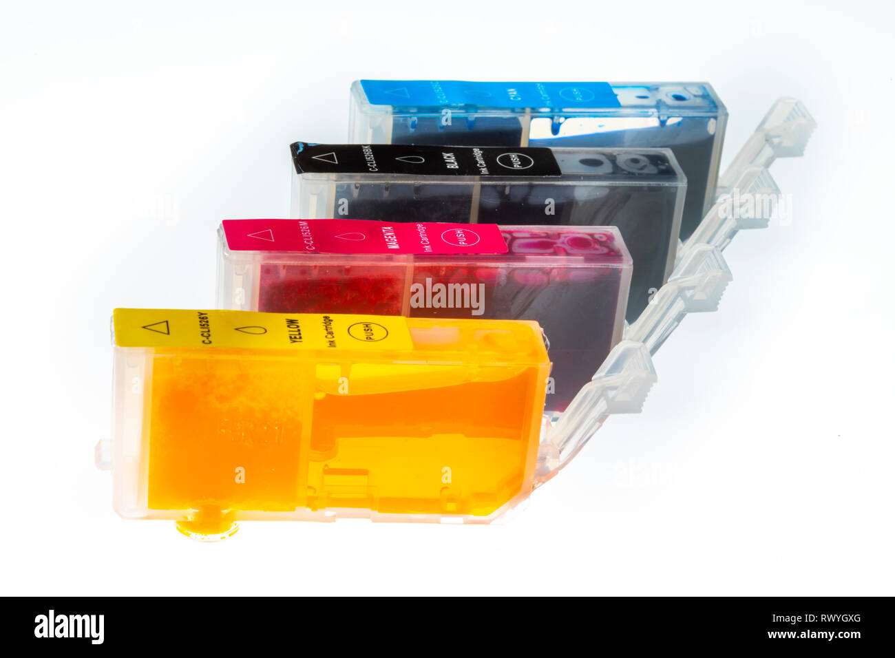Drucker Tintenpatronen, voll, - Stock Image