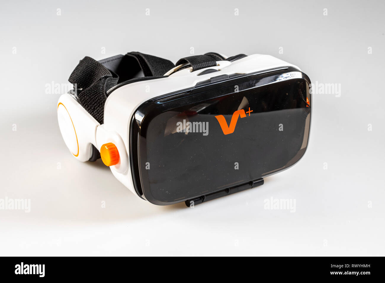 VR-Brille, Virtual Reality Brille, 3-D-Animation, - Stock Image