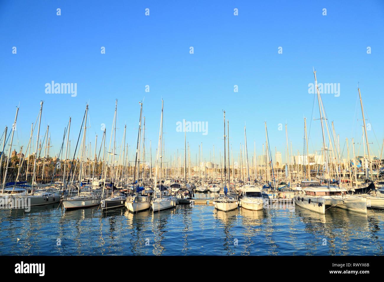 Barcelona Port Vell - Stock Image