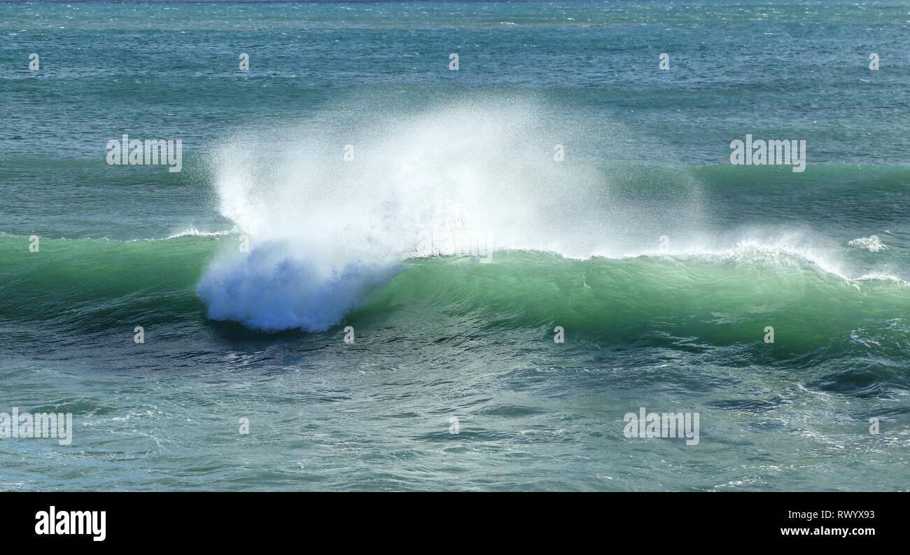 Breaking wave in the Mediterranean Sea - Stock Image
