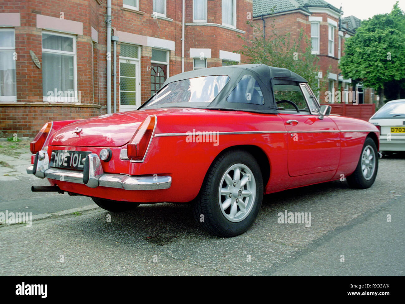 1971 MGB Roadster red convertible - Stock Image