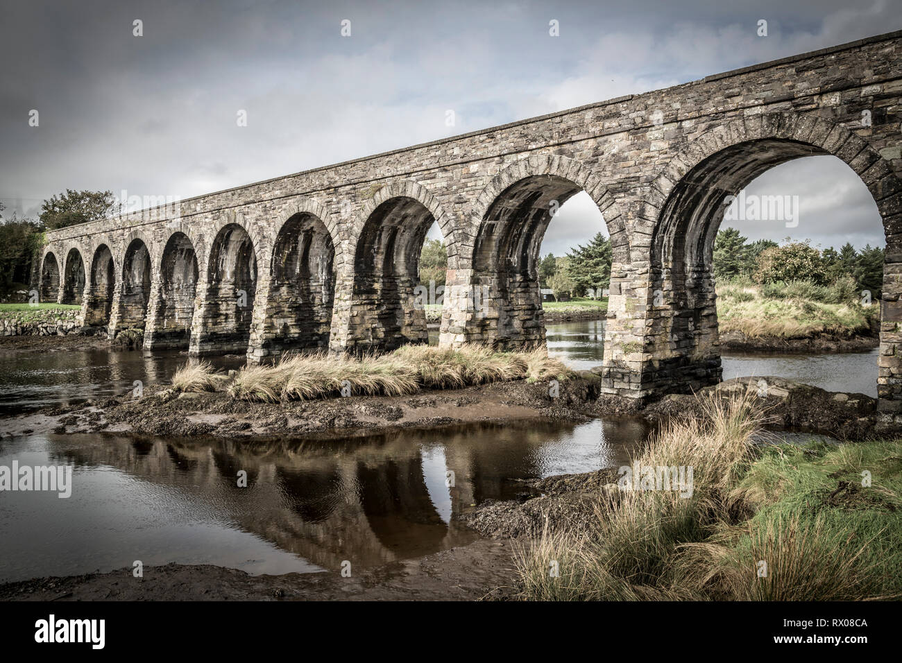 Train Viaduct in Ballydehob, West Cork, Ireland - Stock Image