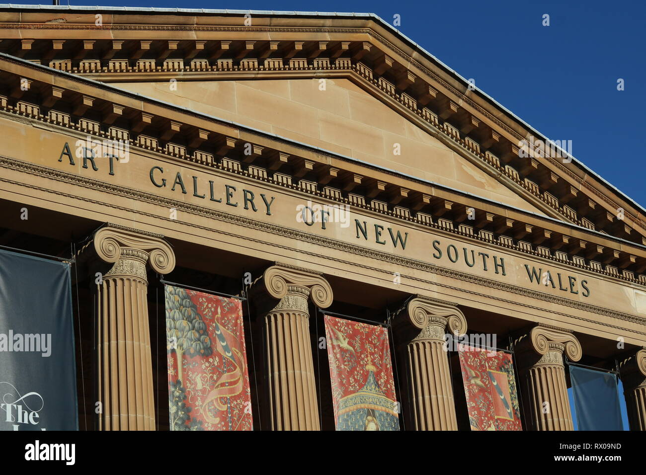 Art Gallery of New South Wales in Sydney Australia - Facade - Stock Image