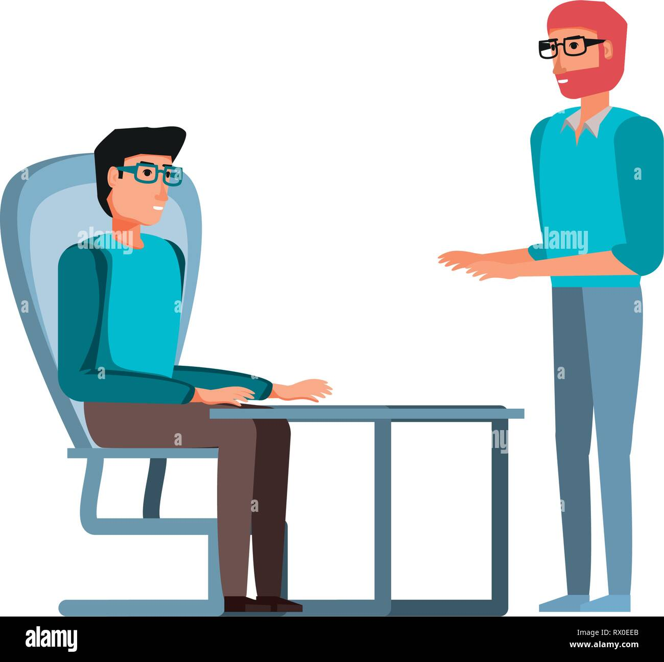 young men in the office vector illustration design - Stock Vector