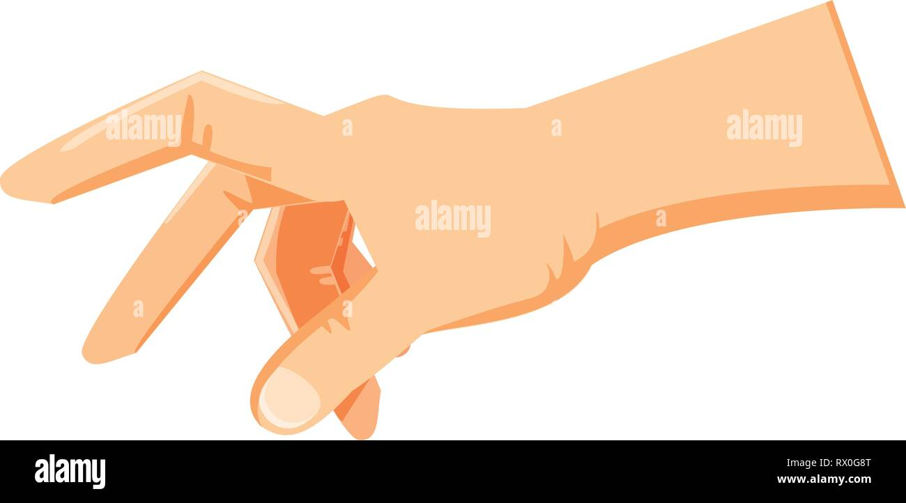 hand human isolated icon vector illustration design - Stock Vector