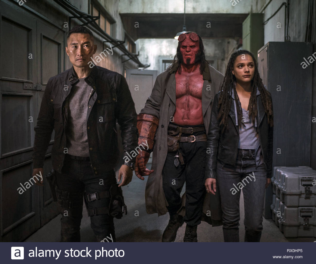 Hellboy II: The Golden Army is a 2008 American supernatural superhero film based on the fictional character Hellboy created by Mike Mignola. The film was written and directed by Guillermo del Toro and is a sequel to the 2004 film Hellboy, which del Toro also directed. Ron Perlman reprises his starring role as the eponymous character.    This photograph is supplied for editorial use only and is the copyright of the film company and/or the designated photographer assigned by the film or production company. Stock Photo