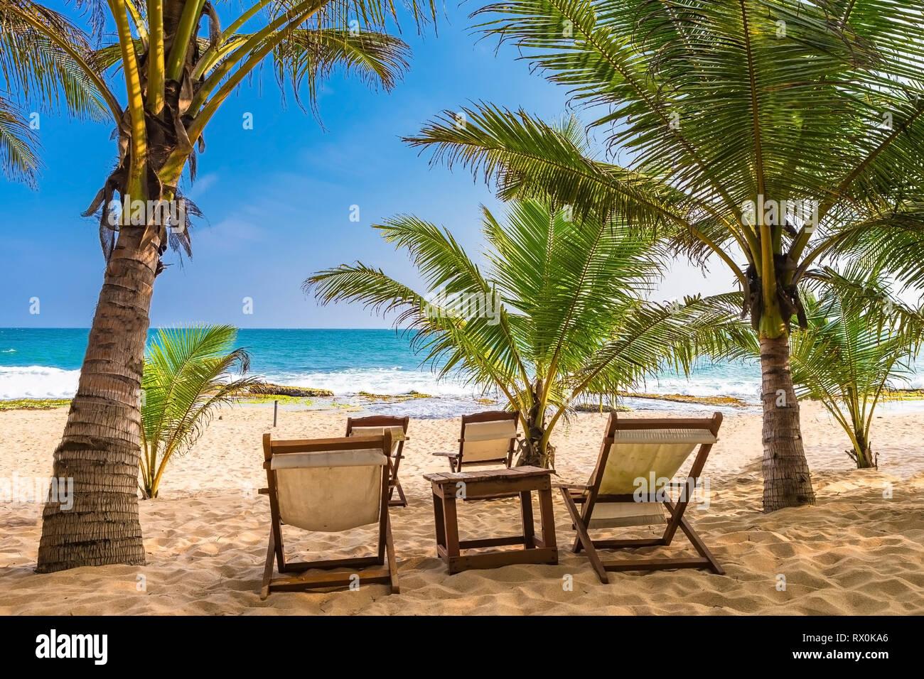Tangalle beach. Sri Lanka. Stock Photo