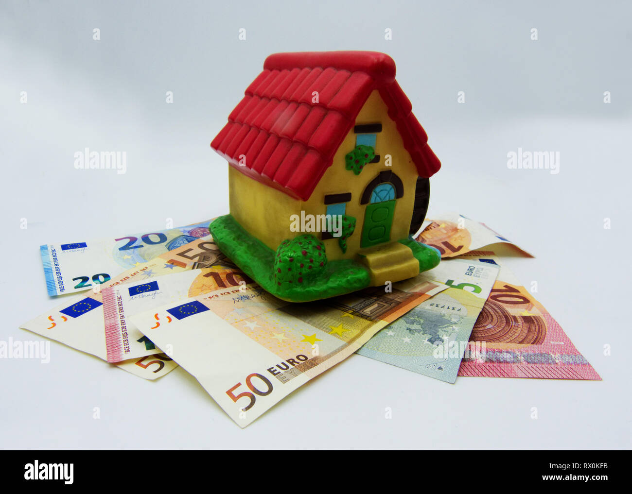 Taxes and mortgage on the house, concept - Stock Image