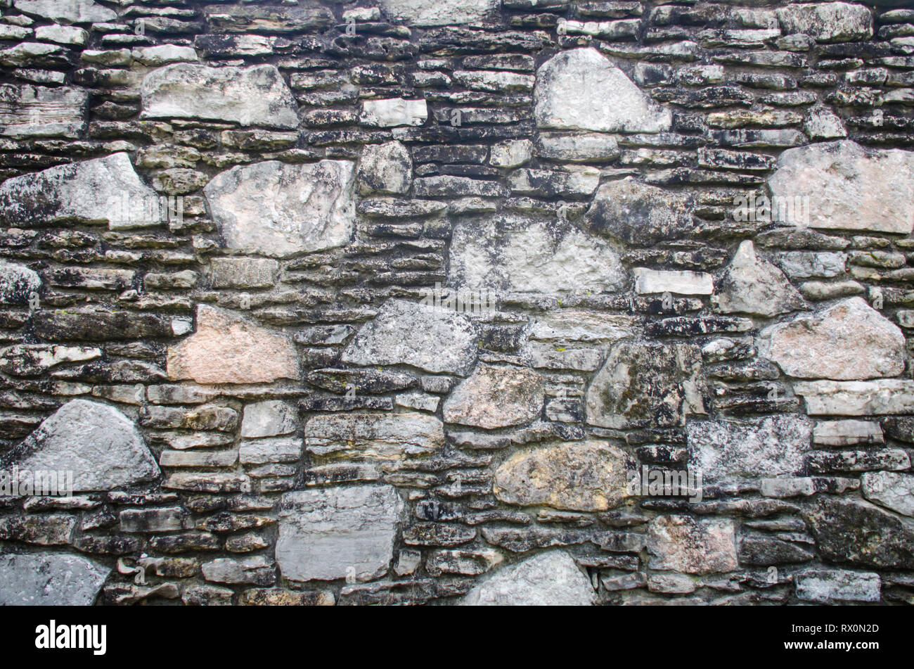 Stone Rock Wall With Beautiful Pattern For Background Texture And