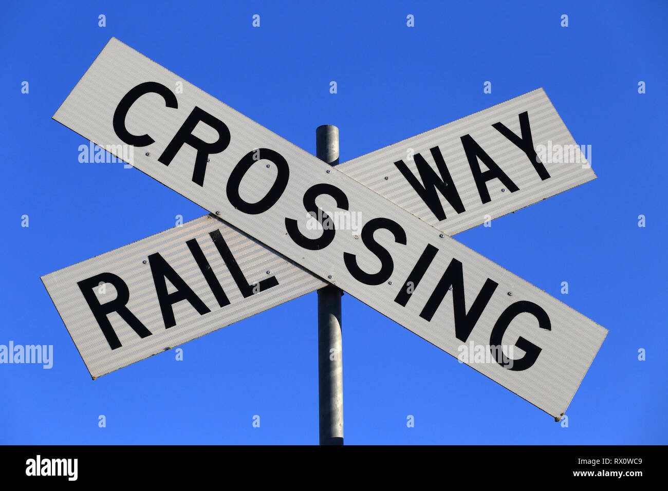 Railway Crossing Sign Stock Photos & Railway Crossing Sign