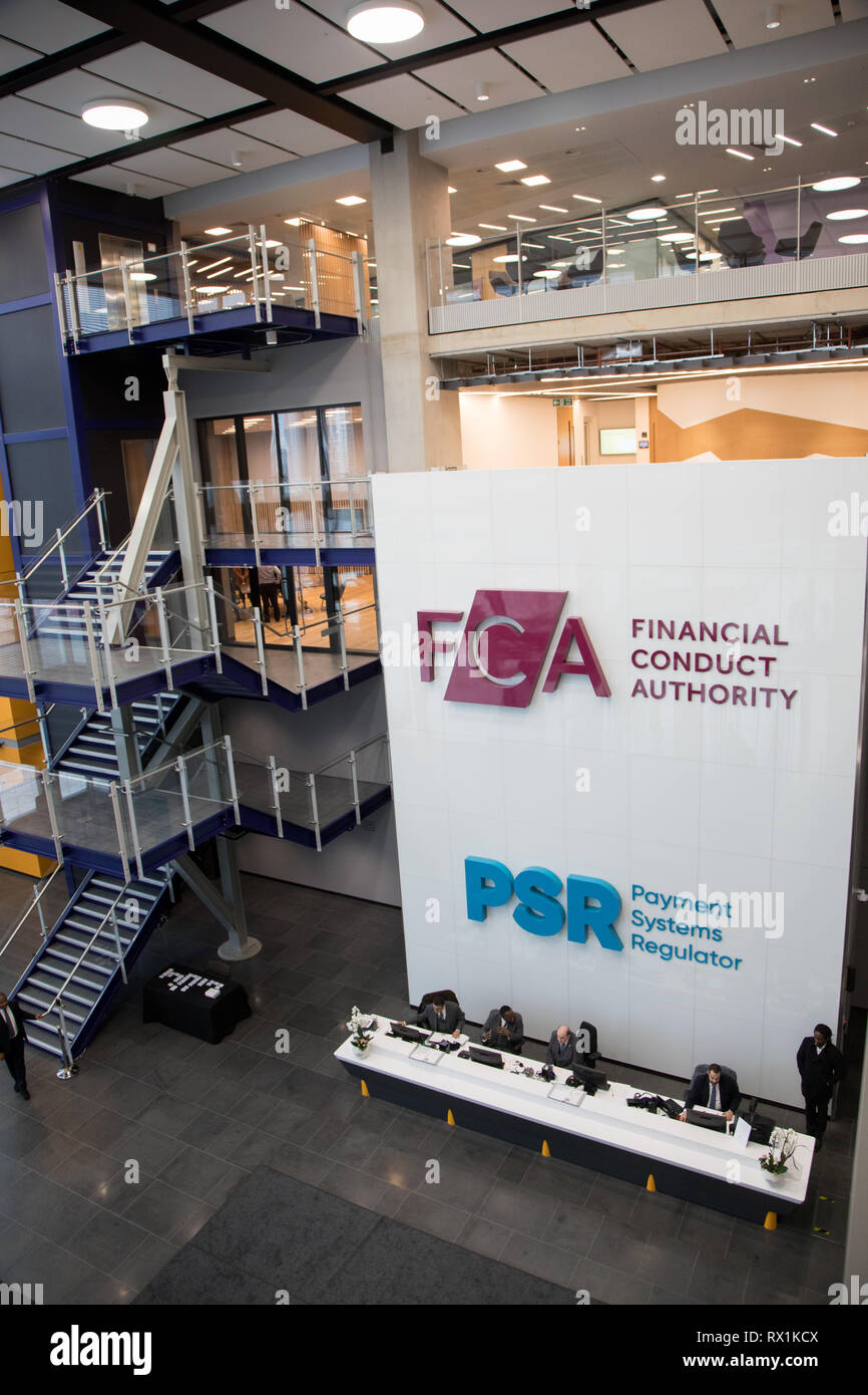 Offices of the Financial Conduct Authority (FCA) and the Payment Systems Regulator (PSR) in London, Stratford Stock Photo