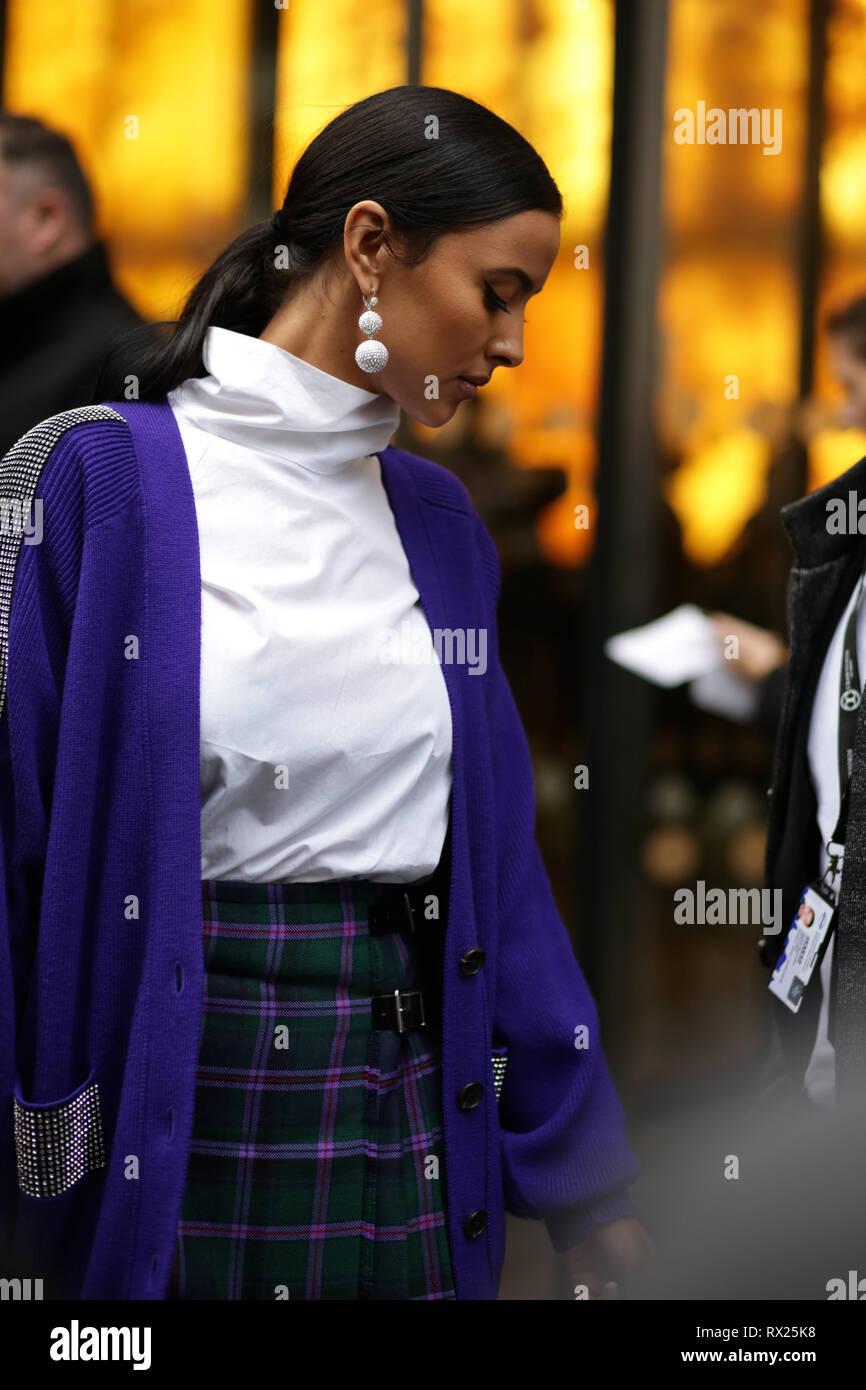 Maya Jama during Christopher Kane London Fashion Week Feb 2019: Uk - Stock Image