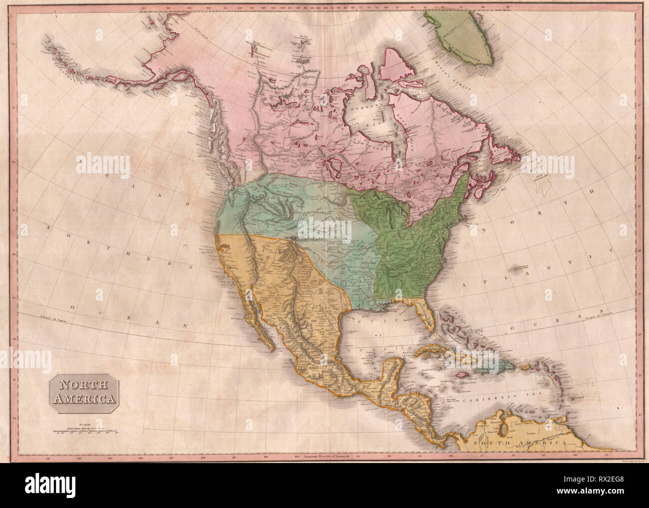Map Of America In 1812.Pinkerton Map Of North America 1812 Stock Photo 239771176 Alamy
