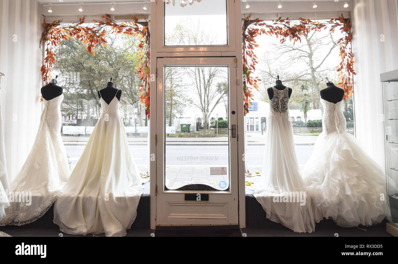 Wedding Dress Shop Window High Resolution Stock Photography And Images Alamy,Plus Size Mermaid Wedding Dresses 2020