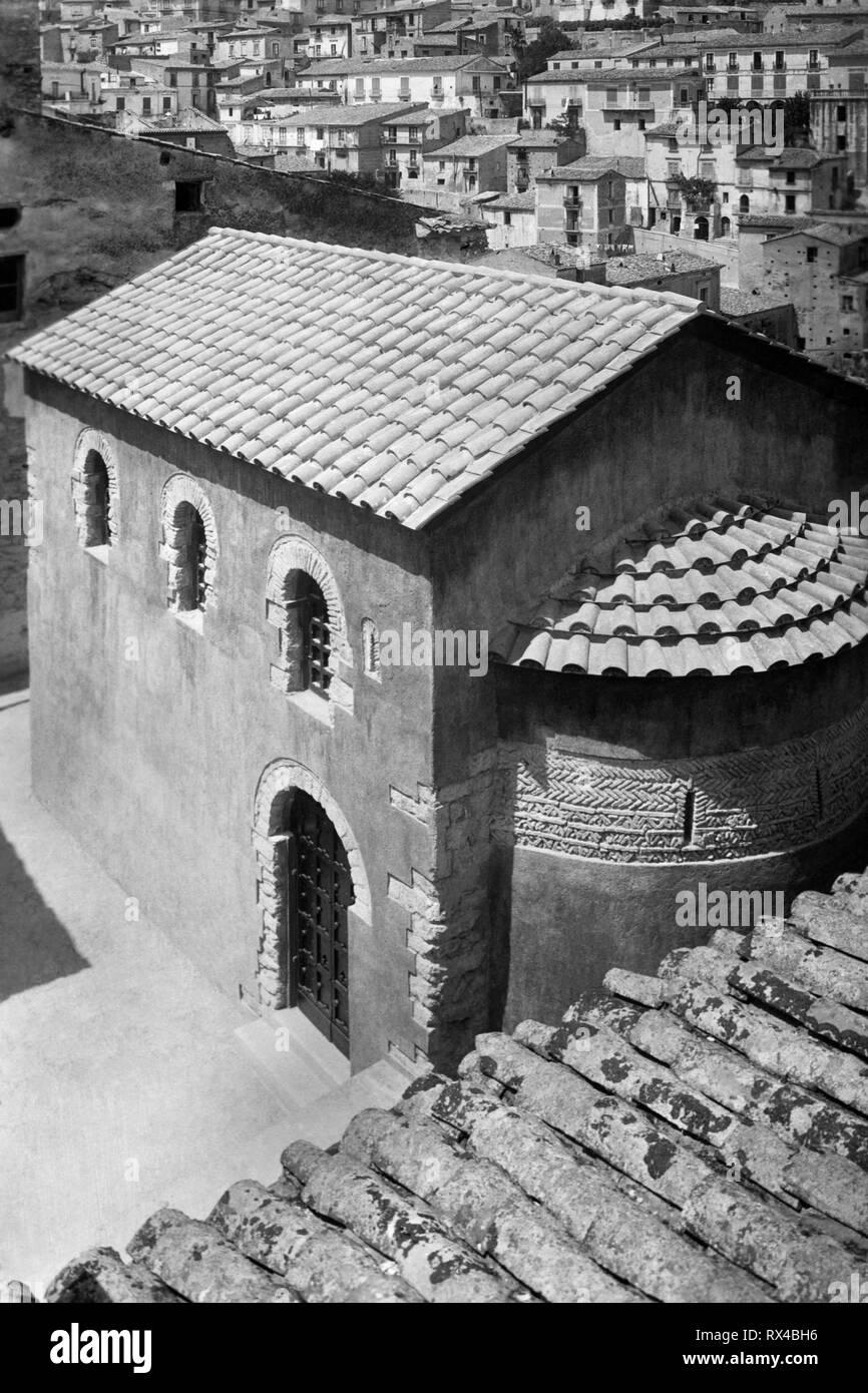 Europe, Italy, Calabria, Rossano, church of Santa panaghia, 1920-30 Stock Photo