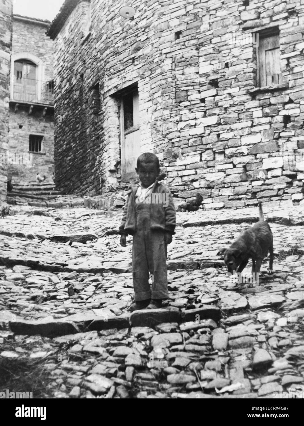 alessandria del carretto, calabria, italy, 1940 - Stock Image