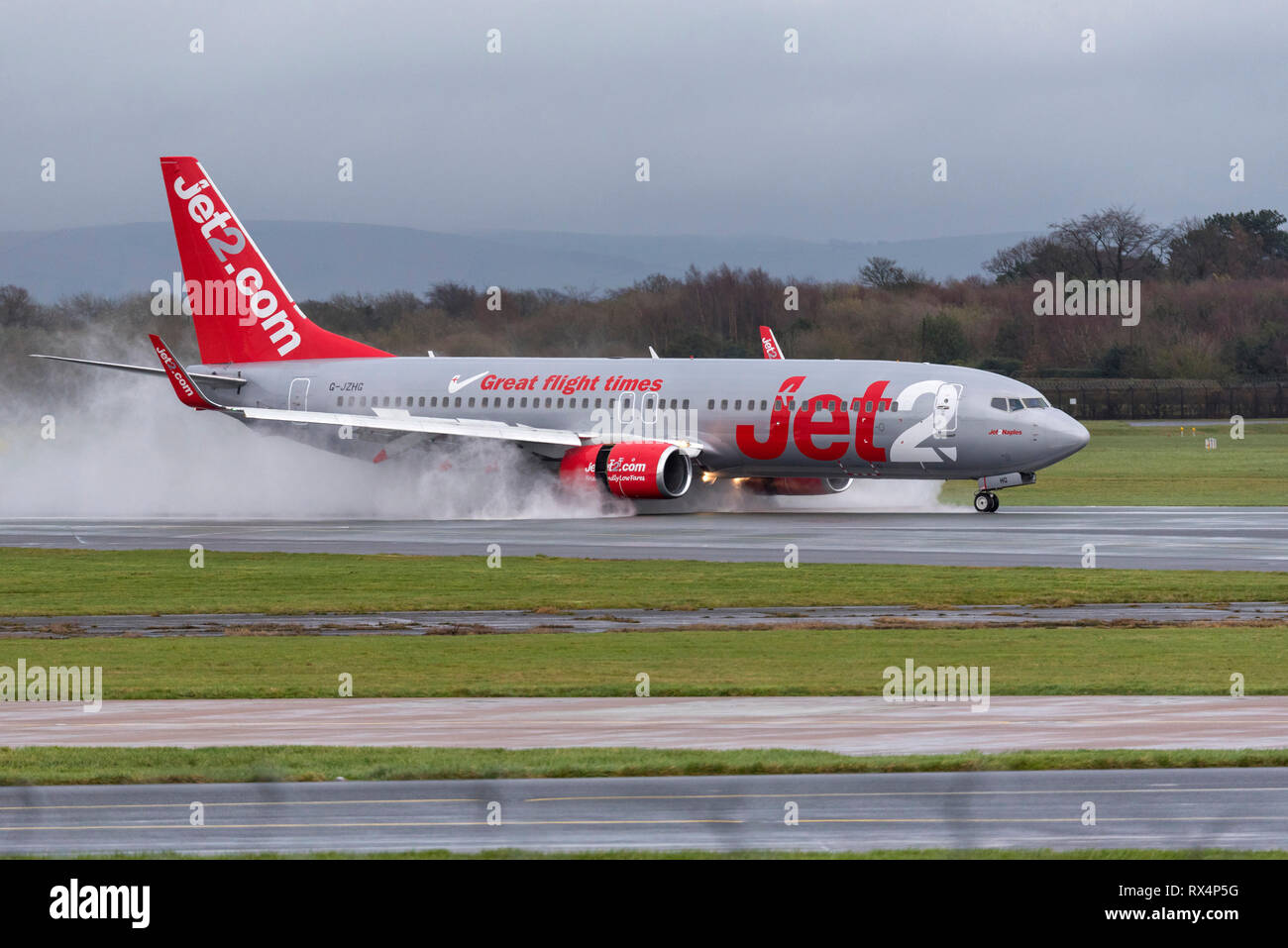 Jets2 airlines Boeing 737. - Stock Image